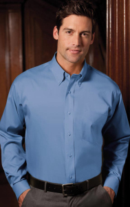 Men's Button Down Collar - French Blue - French Blue