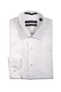Mens Spread Collar White - White
